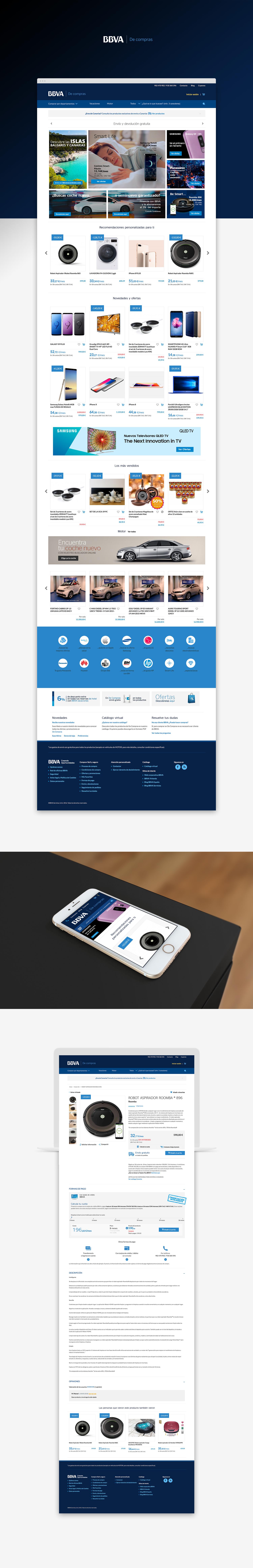 Diseño web responsive · BBVA De compras · Inés Donaire · diseñador freelance
